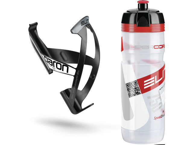 Elite Kit Supercorsa/Paron Bidon & porte-bidon 0.75 litres, clear/red/black/white